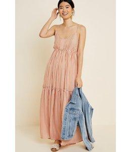 PODOS Striped Ruffle Tier Maxi Dress