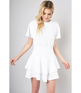 PODOS Ribbon Tie Flare Dress