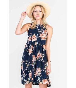 PODOS Floral Babydoll Dress