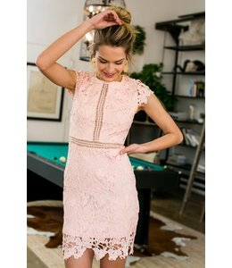 PODOS Lace Dress w/ Cap Sleeves