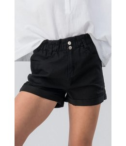 PODOS Vintage Washed High Waist Shorts