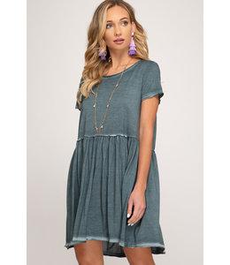 PODOS Garment Dyed Knit Dress