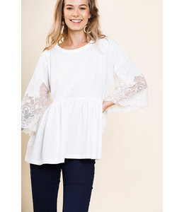 PODOS Bell Sleeve Babydoll Top