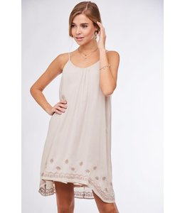 PODOS Embroidered Cami Dress