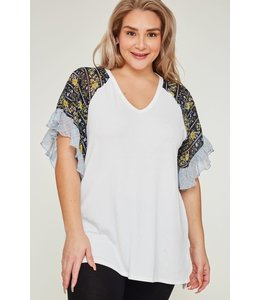 PODOS Bell Sleeve Top PLUS