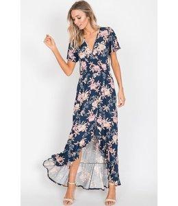 PODOS Floral Maxi Dress Hi-Low