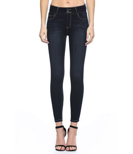 PODOS Mid Rise 2 Button Ankle Skinny