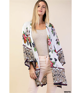 PODOS Border Printed Kimono
