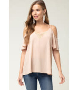 PODOS Cold Shoulder Top w/ Criss-Cross Straps