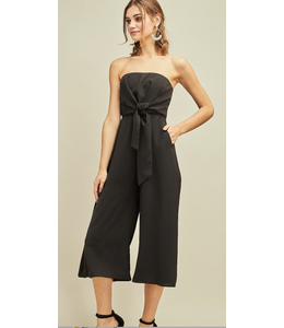 PODOS Strapless Jumpsuit w/ Self-Tie Knot