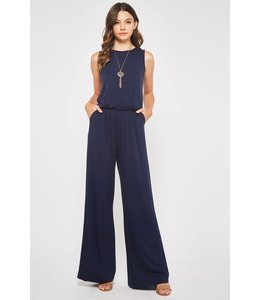 PODOS Sleeveless Jumpsuit w/ Pockets