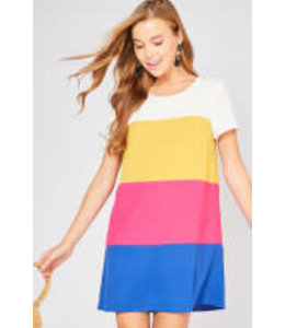 PODOS Color-Block Shift Dress
