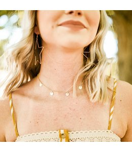 Golden Stella Dangle Choker Necklace