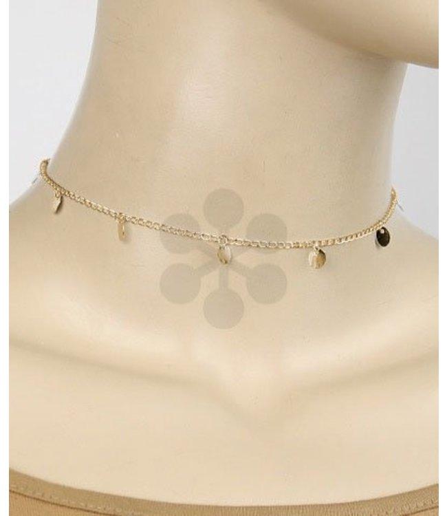 Golden Stella Dangle Choker Necklace