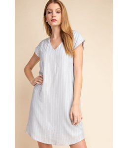 PODOS Vertical Stripe  Woven Dress