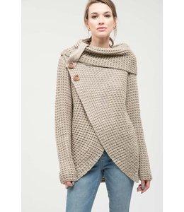 PODOS Cowl Neck Sweater
