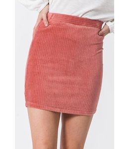 PODOS Fitted Cord Skirt