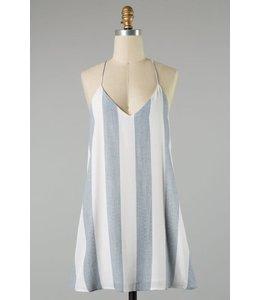 PODOS Stripe Tunic Dress