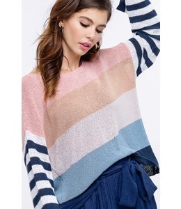 PODOS Stripe Light Weight Sweater