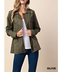 PODOS Solid Military Jacket