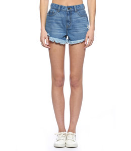 PODOS High Rise Distressed Shorts
