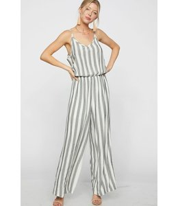PODOS Striped Jumpsuit