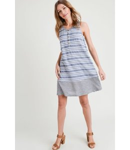 PODOS Stripe Color Block Dress
