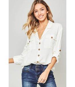 PODOS Button- Down Pocket Shirt