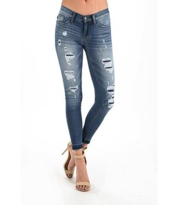 PODOS Soft Ripped Skinnies w/ Inside Patches