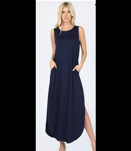 Zenana Sleeveless Maxi Dress w/ Pockets