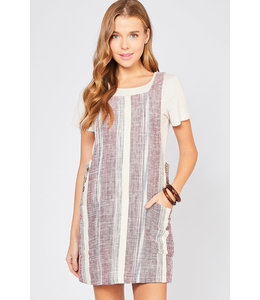 PODOS Square-neck Pinafore Dress