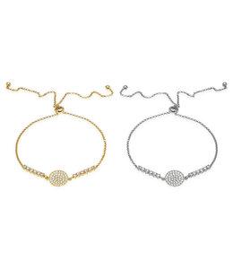 Anuja Sphere Slider Bracelet - silver