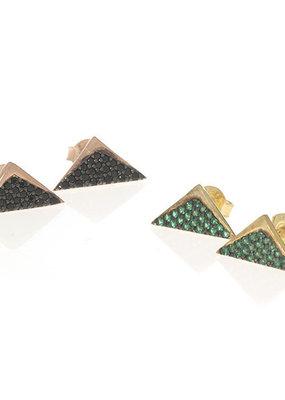 Anuja 3D Triangle Studs