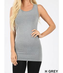 Zenana Scoop Neck Longline Tank