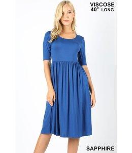 PODOS Round Neck, 1/2 Sleeve Dress