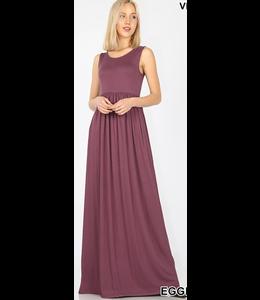 PODOS Sleeveless High Waist Maxi Dress