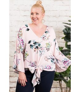 PODOS BELL SLEEVE  V NECK Plus Size