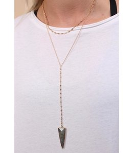 Caroline Hill Y-drop Necklace w/ Arrow Stone