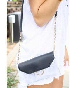 Caroline Hill Tailgate Clear Crossbody Bag Black