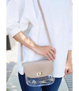 Caroline Hill Studded Clear Crossbody Bag