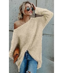 PODOS Loose Fit Sweater Knit Top