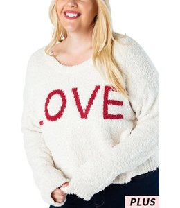 PODOS Cropped LOVE Sweater PLUS