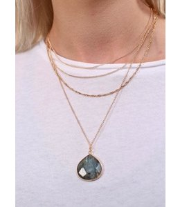 Caroline Hill Giana Layered Teardrop Necklace