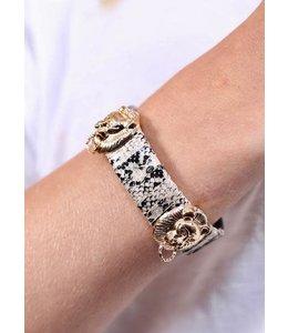 Caroline Hill Snake Print Wrapped Bracelet