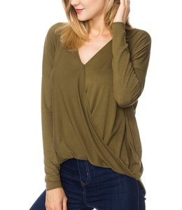 Crossed Front Draped Top