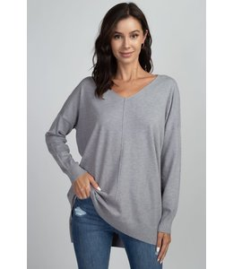 PODOS High- Low Soft Sweater