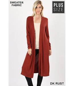 PODOS Duster Cardigan w/Pockets PLUS
