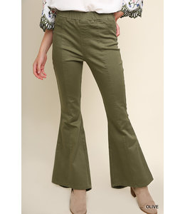 PODOS Flare Bottom Pants w/h Back Pockets