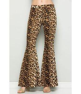 PODOS Leopard  Flare Pants