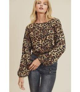 PODOS Leopard Print Crop Top